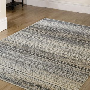 Tangeri Natural Striped Rug by Unique Rugs