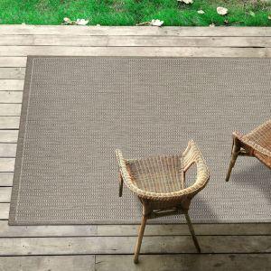 Tatami Taupe Flatweave Rug by Floorita