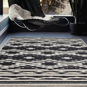Taza TA04 Black and White Rug by Asiatic