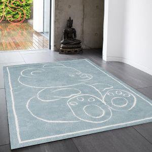 Teddy Bear Blue Rect Rug By Asiatic