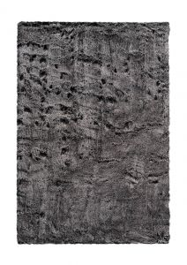Tender 125 Anthracite Shaggy Rug by Kayoom