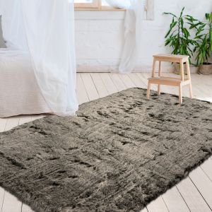 Tender 125 Green Plain Shaggy Rug by Kayoom
