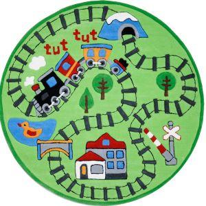 Theko Maui 4075 Green Kids Circle Rug