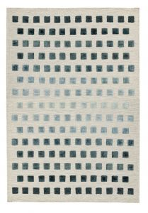 Theo Silvery Squares Wool Rug by Asiatic