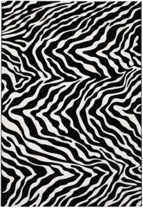 Tiago 46312/AF900 Black Abstract Rug by Mastercraft