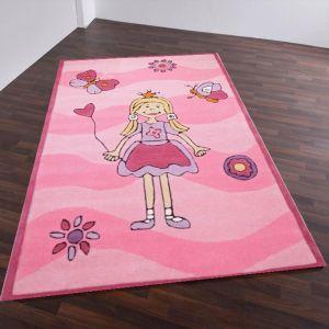 Theko Maui 3035 Rose Kids Rug