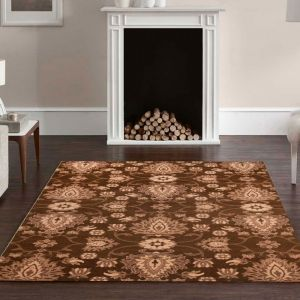 Theko Timeless 001-500 Brown Classic Wool Rug