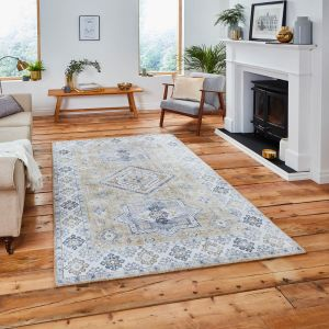 Topaz G4705 Gold Traditional Rug by Think Rugs