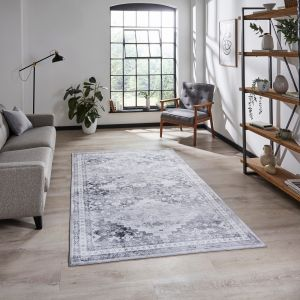 Topaz H1265 Grey Traditional Rug by Think Rugs