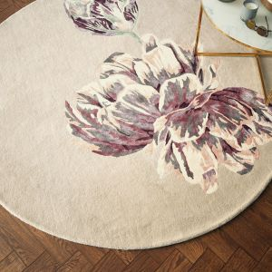 Tranquility 56001 Beige Hand Tufted Wool Circle Rug by Ted Baker