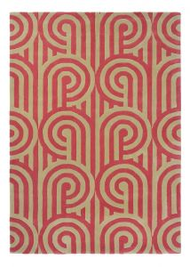 Turnabouts Claret 039200 Wool Rug by Florence Broadhurst