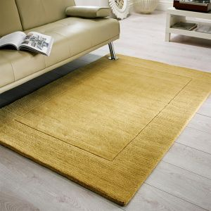 Tuscany Siena Ochre Plain Bordered Rug 1 By Flair Rugs 1