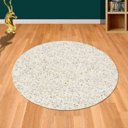 Twilight 039 0001 6926 White Shaggy Circle Rug by Mastercraft