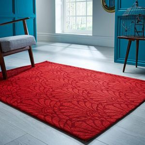 V&A Rhapsody Red Wool Rug by Flair Rugs