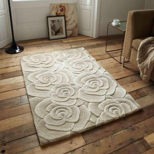 Valentine VL-10 Beige Wool Rug By Think Rugs