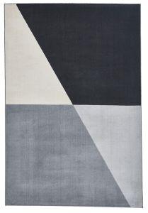 Vancouver 18487 Grey Black Geometric Rug by Think Rugs