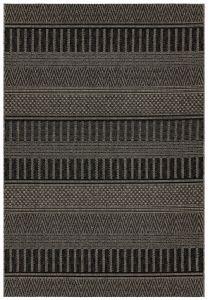 Varanda VA03 Black Stripe Rug by Asiatic