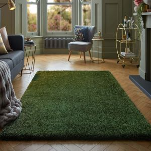 Veloce Green Shaggy Rug by Flair Rugs