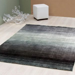 elvet Anthracite Plain Rug by ITC