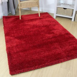 Velvet Red Rug by Flair Rugs