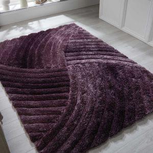 Verge Furrow Purple Rug by Flair Rugs