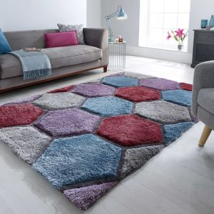 Verge Honeycomb Multi Rug by Flair Rugs