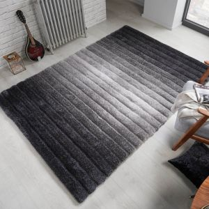 Verge Ombre Grey Rug by Flair Rugs