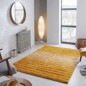 Verge Ombre Ochre Rug by Flair Rugs