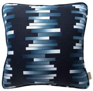 Vermarette Bleu Geometric Cushion by Claire Gaudion