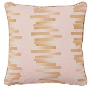 Vermarette Rose Geometric Cushion by Claire Gaudion
