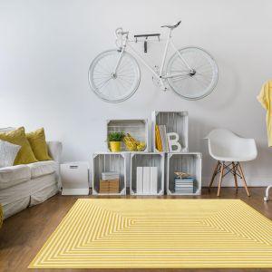 Vitaminic Braid Yellow Geometric Rug By Floorita  1