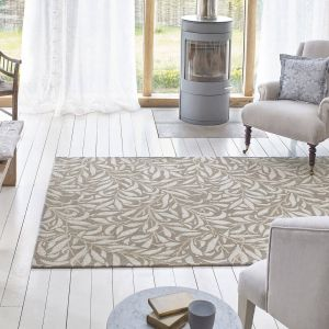 Willow Bough 28304 Mole Hand Tufted Wool Rug by Morris & CO.