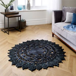 Zarla Black Circle Rug by Oriental Weavers