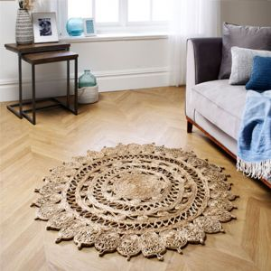 Zarla Natural Circle Rug by Oriental Weavers