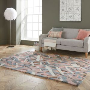 Zest Bark Texture Clay Abstract Rug by Flair Rugs
