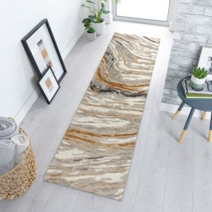 Zest Jarvis Natural Multi Abstract Runner by Flair Rugs