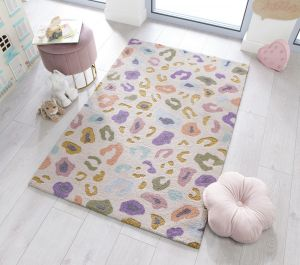 Zest Kids Leopard Cream Multi Rug by Flair Rugs