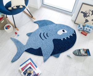 Zest Kids Shark Blue Rug by Flair Rugs