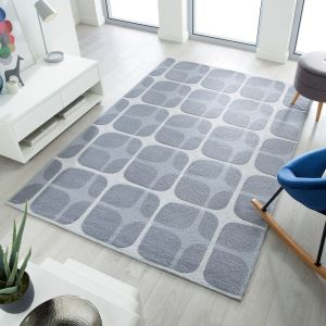 Zest Mesh Grey Geometric Rug by Flair Rugs