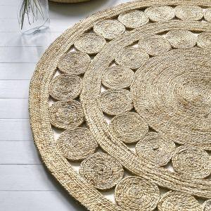Zira Jute 003 Spiro Circle Rug By Asiatic