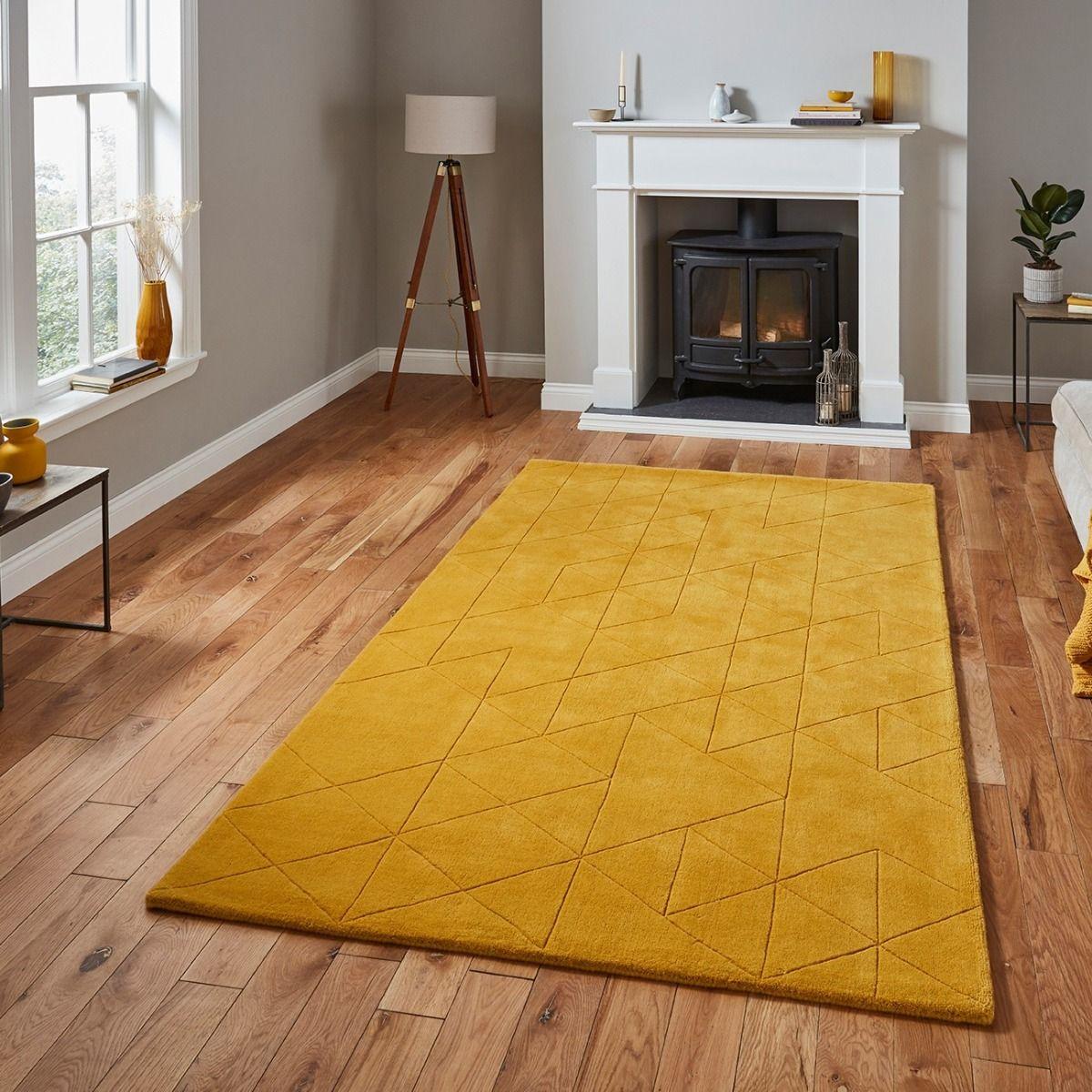 Buy Online Kasbah Kb2025 Ochre Geometric Wool Rug Therugshopuk