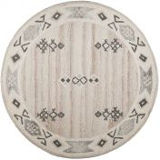 018-990 Royal Berber Melange Natural Wool Circle Rug by Theko