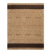 1539-506 Lori Dream Gold  Light Brown Harmony Wool Rug by Theko