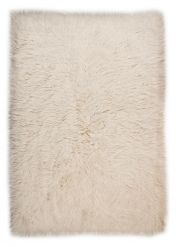 2450 Flokos Natural White Wool Rug by Theko