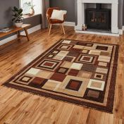 Think Rugs Hudson 3222 Brown/Beige Rug