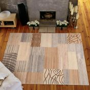4028-122 Nakarta Red Grey Natural Wool Rug by Theko