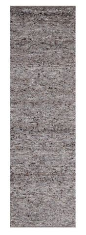 655 Berberina Super Grey Multi Natural Wool Runner by Theko