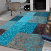 Vintage Multi Turquoise 8105 Luxury Rug By Louis De Poortere