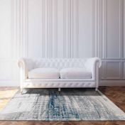 Mad Men Griff 8421 Bronx Azurite Designer Luxury Rug by Louis De Poortere