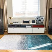 8877 Mad Men Fahrenheit Polar Vortex Rug by Louis De Poortere